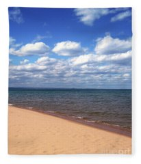 Lake Superior In Summer Fleece Blanket