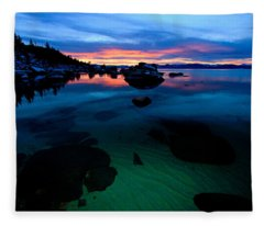 Lake Tahoe Clarity At Sundown Fleece Blanket