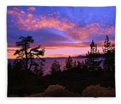 Lake Tahoe Crescendo Fleece Blanket