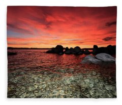 Lake Tahoe Liquid Dreams Fleece Blanket