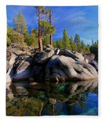Lake Tahoe Rocks Fleece Blanket