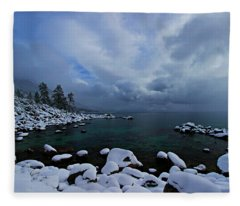 Lake Tahoe Snow Day Fleece Blanket