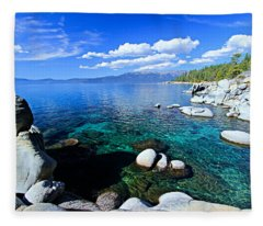 Lake Tahoe Summer Treasure Fleece Blanket