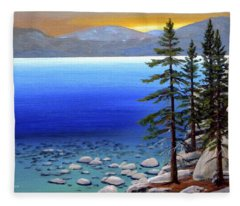 Lake Tahoe Sunrise Fleece Blanket