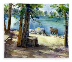 Lake Valley Bear Fleece Blanket