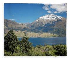 Lake Wanaka New Zealand Iv Fleece Blanket