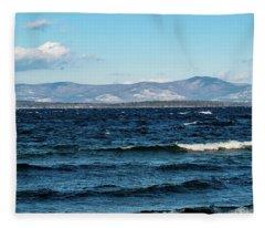 Lake Winnipesaukee Fleece Blanket