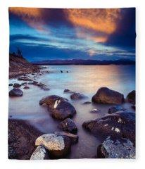 Lake Yellowstone Fleece Blanket