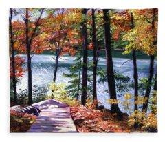 Lakeside Boardwalk Fleece Blanket