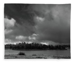 Lakeside Clouds Fleece Blanket