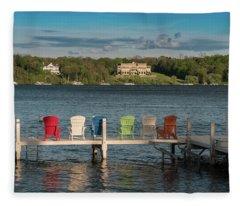 Lakeside Living Number 3 Fleece Blanket