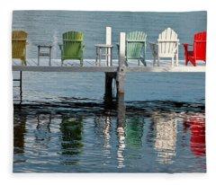 Lake Geneva Fleece Blankets