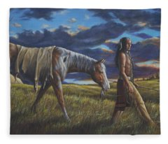 Lakota Sunrise Fleece Blanket