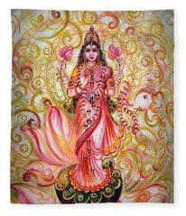 Lakshmi Darshanam Fleece Blanket