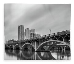 Fleece Blanket featuring the photograph Lamar Bridge In Austin, Texas by Todd Aaron