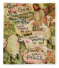 Lamb Of God Fleece Blanket