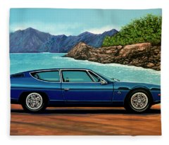 Lamborghini Espada 1968 Painting Fleece Blanket