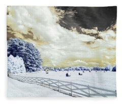 Lancaster Farm In Ir Fleece Blanket