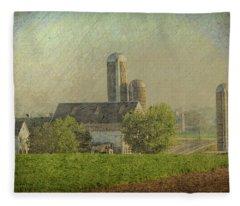 Lancaster Pennsylvania Farm Fleece Blanket