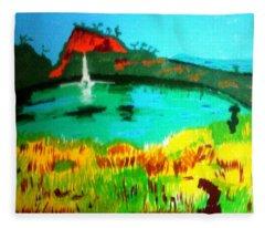 Land And Sea Fleece Blanket