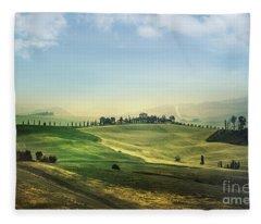 Land Of Dawn Fleece Blanket