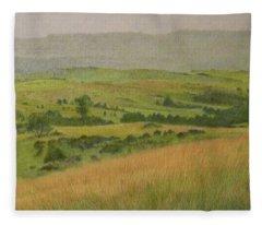 Land Of Grass Fleece Blanket