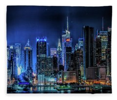 Land Of Tall Buildings Fleece Blanket