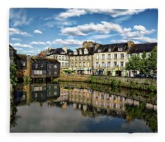 Landerneau Village View Fleece Blanket