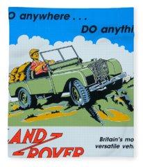 Landrover Advert - Go Anywhere.....do Anything Fleece Blanket