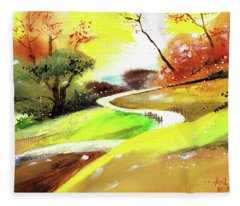 Landscape 6 Fleece Blanket