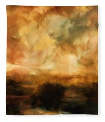 Landscape At Sunset Fleece Blanket
