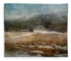 Landscape From Norway Fleece Blanket