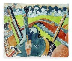 Landscape In B-flat Fleece Blanket