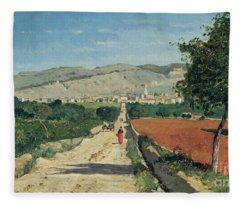 Landscape In Provence Fleece Blanket