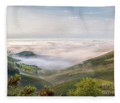 Landscape In The Spanish Comarca Oscos-eo Fleece Blanket