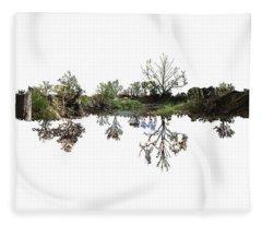 Landscape Minimalism Fleece Blanket