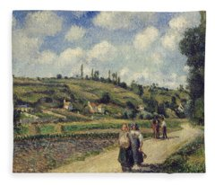 Landscape Near Pontoise Fleece Blanket