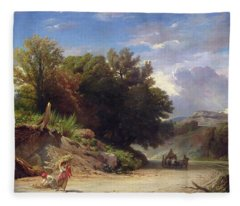 Landscape On The Outskirts Of Rome Fleece Blanket