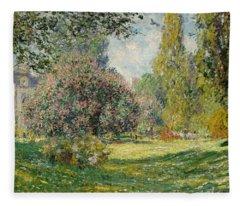 Landscape- Parc Monceau  Fleece Blanket