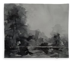 Landscape Value Study Fleece Blanket