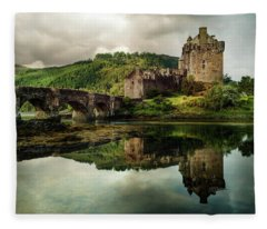 Landscape With An Old Castle Fleece Blanket