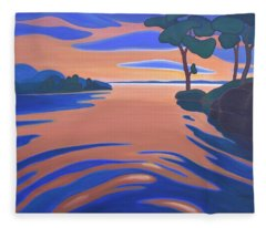 Languid Evening Fleece Blanket