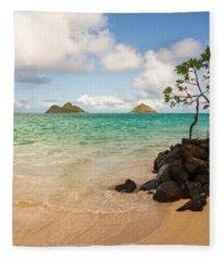 Lanikai Beach 1 - Oahu Hawaii Fleece Blanket