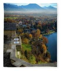 Lanscape At Montenegro Fleece Blanket