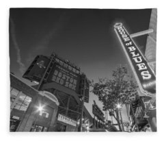 Lansdowne Street Fenway Park House Of Blues Boston Ma Black And White Fleece Blanket
