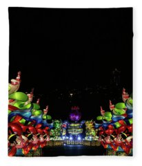 Lantern Path Fleece Blanket
