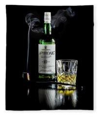 Whiskey And Smoke Fleece Blanket