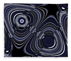 Lapis And Chrome Abstract Fleece Blanket