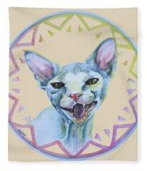 Lara Cat Fleece Blanket