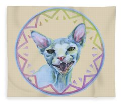 Lara Cat Fleece Blanket